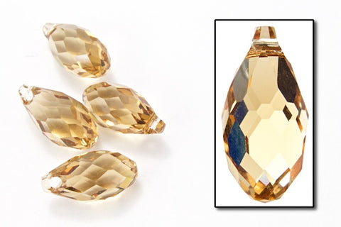 Swarovski 6010 6.5mm x 13mm Light Colorado Topaz Briolette Pendant (12 Pcs, 144 Pcs)