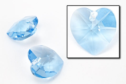 10.3mm x 10mm Swarovski 6202 Aquamarine Heart Drop