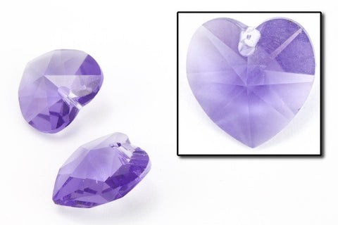 10.3mm x 10mm Swarovski 6202 Tanzanite Heart Drop