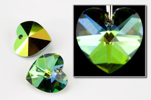 10.3mm x 10mm Swarovski 6202 Vitrail Medium Heart Drop