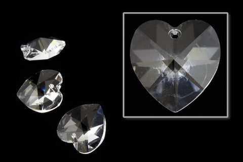10.3mm x 10mm Swarovski 6202 Crystal Heart Drop