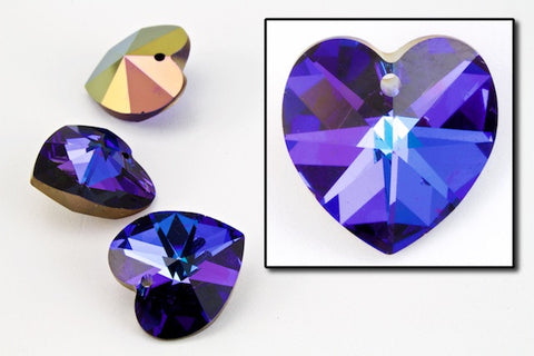 10.3mm x 10mm Swarovski 6202 Heliotrope Heart Drop-General Bead