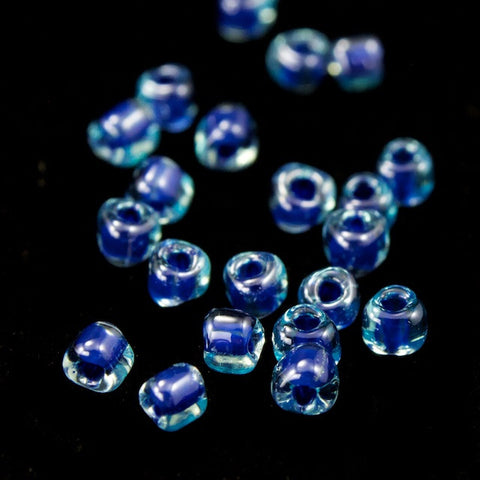 10/0 Blue Lined Aqua Luster Miyuki Triangle Seed Bead (20 Gm) #TE1828-General Bead
