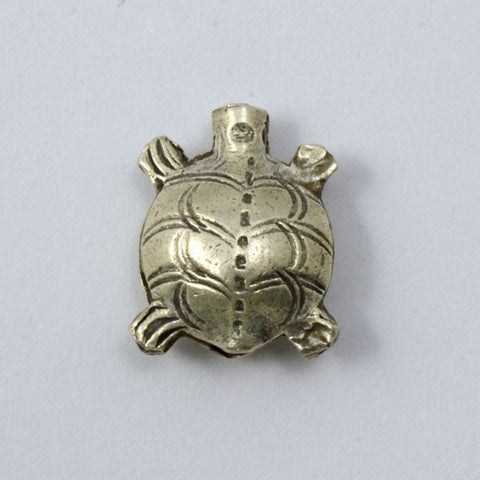 16mm Thai Sterling Silver Turtle Bead