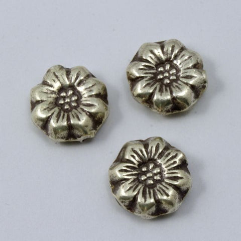 13mm Thai Sterling Silver Flower Bead