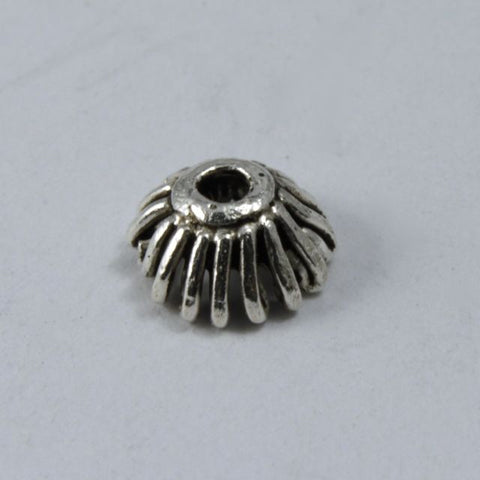 Turkish Sterling 5mm Grooved Bead Cap (2 Pcs) #TKS001-General Bead