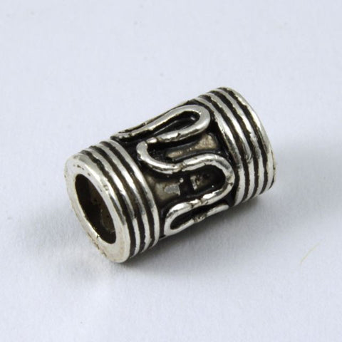 10mm x 6mm Sterling Silver Classic Tube Bead #TKS013-General Bead