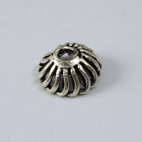8mm Sterling Silver Grooved Bead Cap #TKS021-General Bead