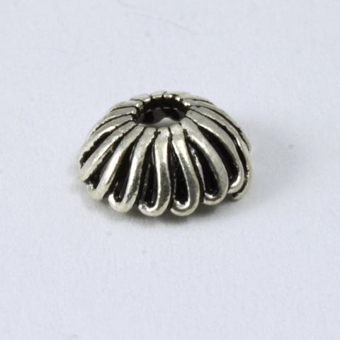 6mm Sterling Silver Swirled Loop Bead Cap #TKS037