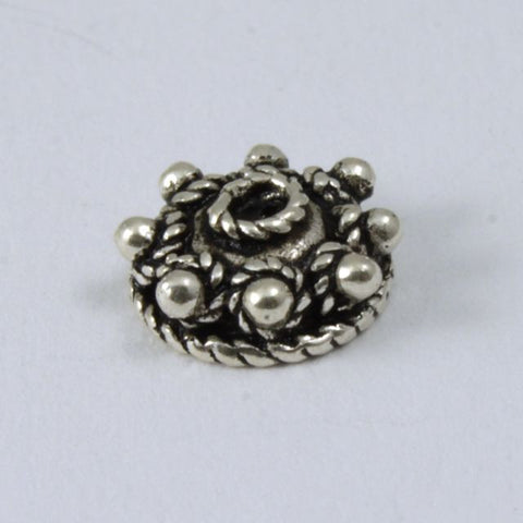 Sterling Silver 5mm 8 Dot Bead Cap (2 Pcs) #TKS045-General Bead