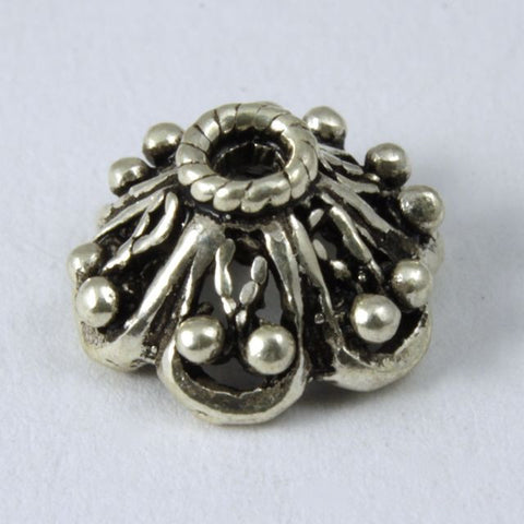 Sterling Silver 8mm Bead Cap #TKS073-General Bead