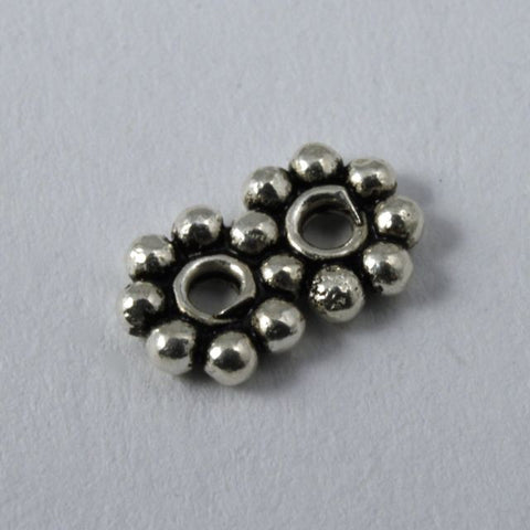 Sterling Silver Twin Daisy Spacers (2 Pcs) #TKS089-General Bead