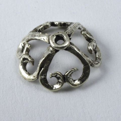Turkish Sterling Scalloped 13mm Bead Cap #TKS102-General Bead