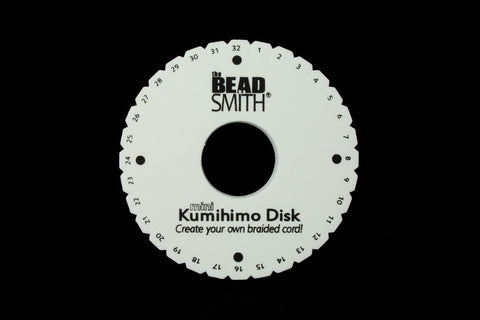 "4.25"" Round Kumihimo Plate #TLA040-General Bead"