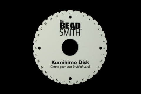"6"" Round Kumihimo Plate #TLB040-General Bead"