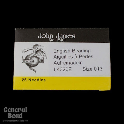 Size 13 English Beading Needle (25 Pcs) #TLC010