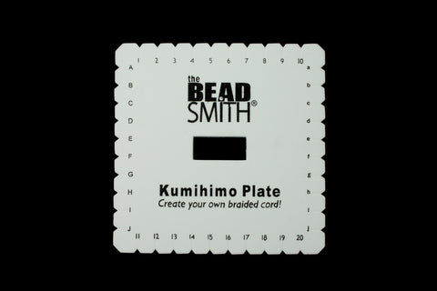 "6"" Square Kumihimo Plate #TLC040-General Bead"