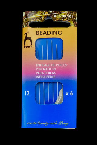 Size 12 Pony Beading Needle (6 Pcs) #TLQ010
