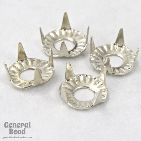 20ss Silver Tone Tiffany Setting #TSB014-General Bead