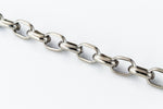 4mm Titanium Half Round Wire Oval Chain #TIC089