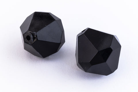 20mm x 18mm Opaque Jet Faceted Bicone (2 Pcs) #UP106