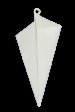 62mm Opaque White Offset Triangle Drop (2 Pcs) #UP230