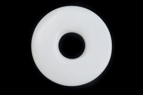 37mm Opaque White Donut (2 Pcs) #UP297