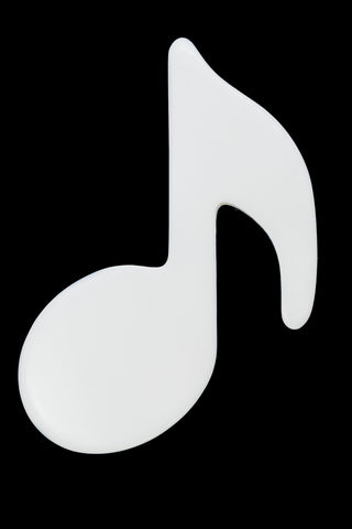 50mm x 68mm Opaque White Music Note Blank #UP301