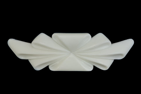 25mm x 90mm Opaque White Stylized Curved Ribbon #UP302