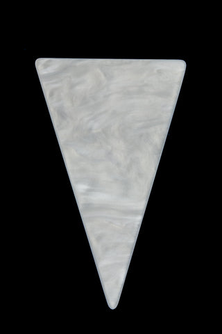 32mm x 52mm Marbled White Triangle Blank #UP308