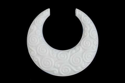 46mm Opaque White Spiral Hoop (2 Pcs) #UP313