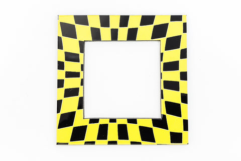 64mm Black and Yellow Op- Art Open Square #UP405