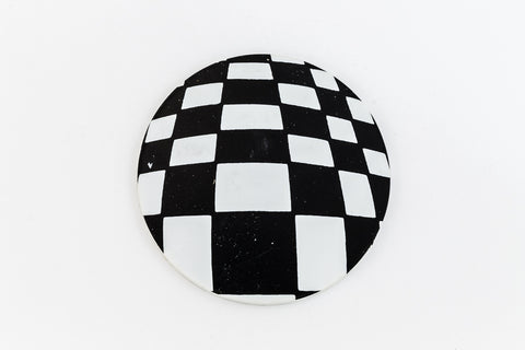 41mm Black and White Op- Art Circle #UP416