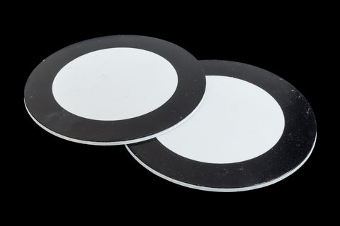 75mm Black and White Circle #UP437