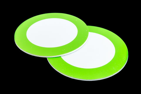 75mm Green and White Circle #UP438