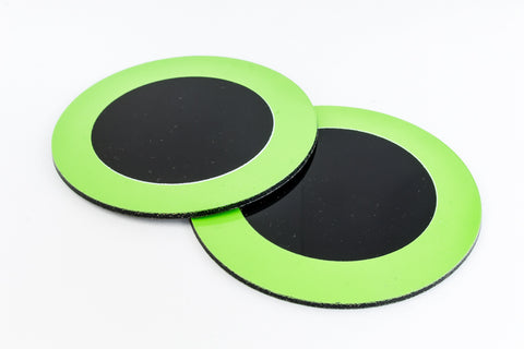 75mm Green and Black Circle #UP439