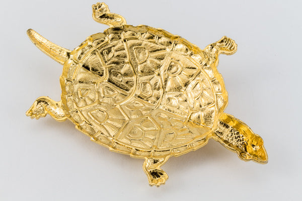 45mm Gold Plated Brass Turtle #1623B