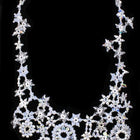 Snow and Ice Crystal Lace Necklace-General Bead