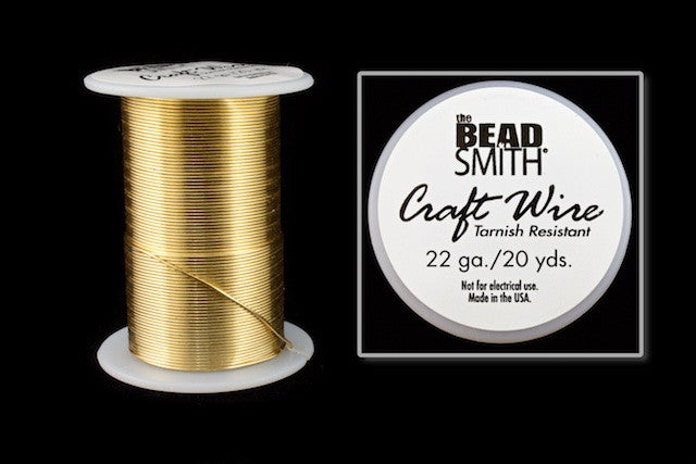 22 Gauge Gold Beadsmith Craft Wire 20 Yards Wrh104