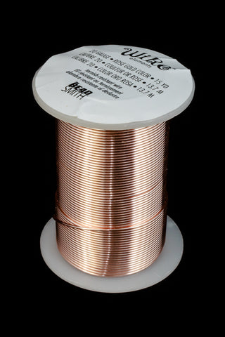 20 Gauge Rose Gold BeadSmith Craft Wire (15 Yards) #WRH501-General Bead