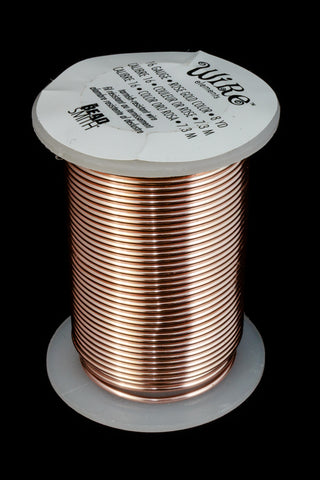 16 Gauge Rose Gold BeadSmith Craft Wire (8 Yards) #WRH507-General Bead