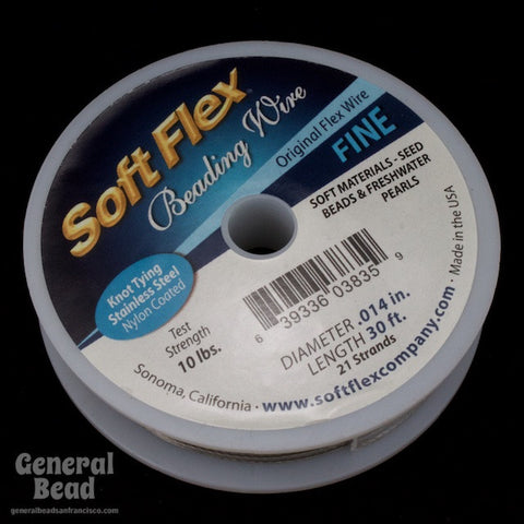 Soft Flex Satin Silver Fine (0.014, 21 strands) #WRK014-General Bead