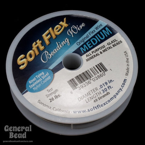 Soft Flex Satin Silver Medium (0.019, 49 strands) #WRK019-General Bead