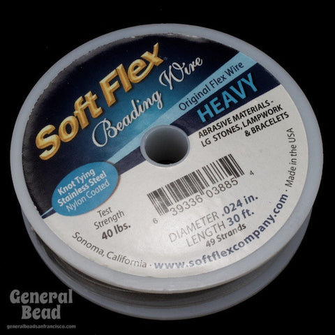 Soft Flex Satin Silver Heavy (0.024, 49 strands) #WRK024-General Bead