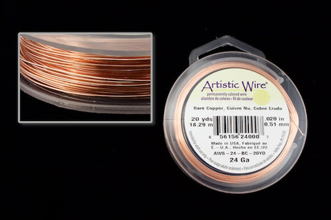 24 Gauge Non Tarnish Copper Artistic Craft Wire (20 Yard) #WSG202-General Bead