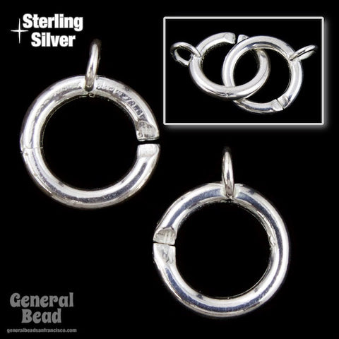 10mm Sterling Silver Ring Clasp Set-General Bead