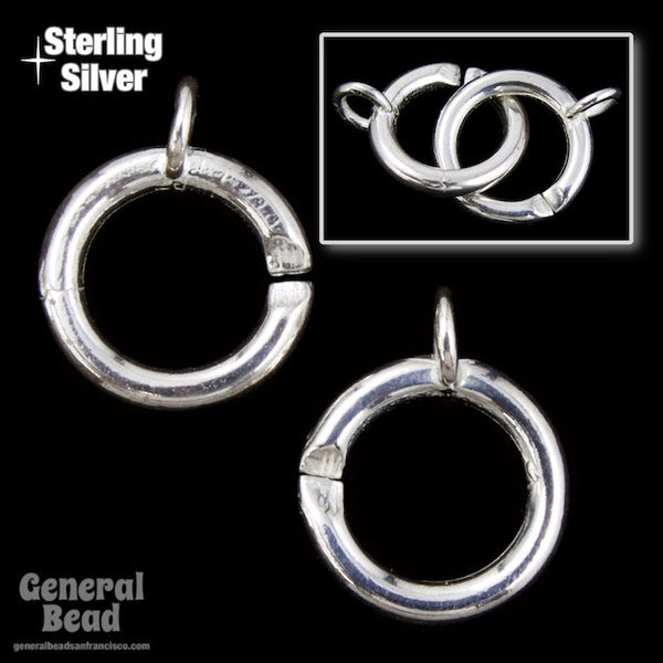 10mm Sterling Silver Ring Clasp Set