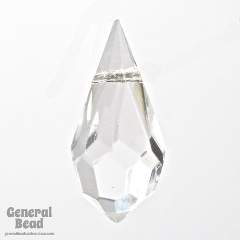 9mm x 18mm Crystal Cut Glass Teardrop #XCD001