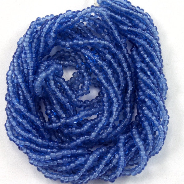 14/0 Transparent Periwinkle Antique Seed Bead