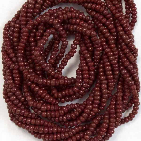 14/0 Burgundy Antique Seed Bead